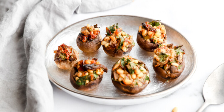 Vegan Stuffed Mushrooms Recipe