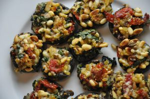 Vegan Stuffed Mushrooms