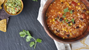 NO Oil One-Pot Mexican Soup