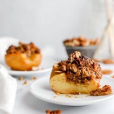 Healthy Baked Apple Recipe Pecan Stuffed Apple