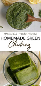 EASY MINT CILANTRO CHUTNEY RECIPE FOR SANDWICHES AND CHAAT