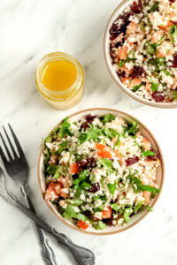 Raw Cauliflower Salad